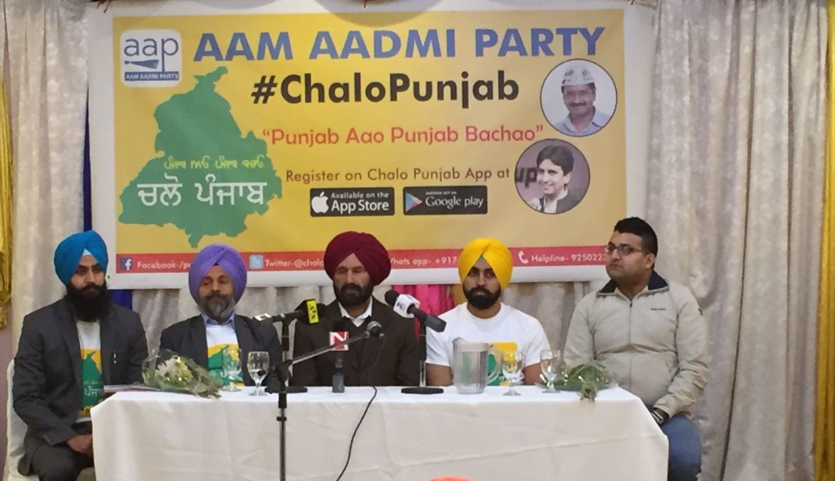 "AAP Toronto Volunteer Group ""Chalo Punjab"" event with Jagtar Singh Sanghera"