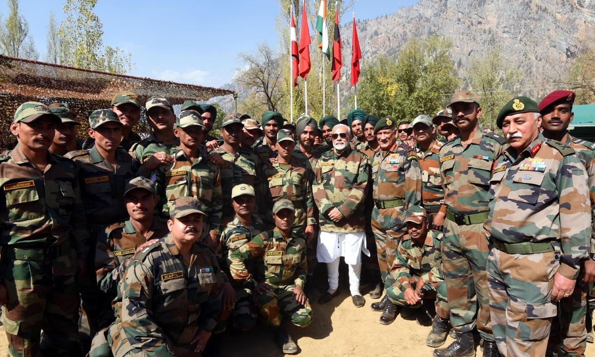 PM of India celebrates Diwali with jawans of Indian Army and BSF