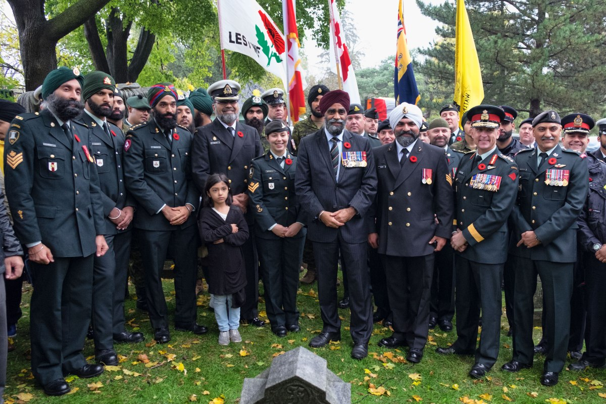 ANNUAL SIKH REMEMBRANCE DAY CEREMONY HONOURS CANADIAN SOLDIERS