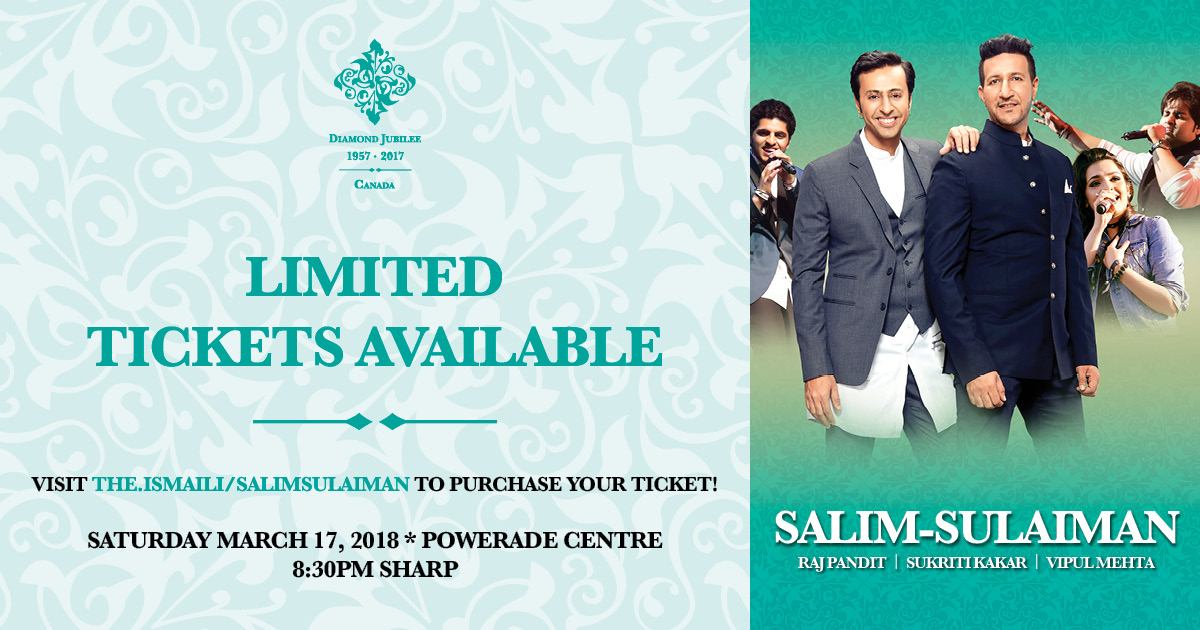 Canadian Ismaili Muslims Welcome Indias Popular Music Duo Salim