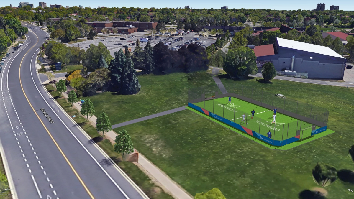 Mississauga Scores a Second Boxed Soccer Pitch for the Downtown Core