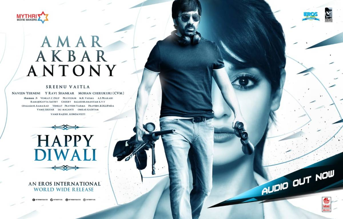 Telugu action entertainer 'Amar Akbar Anthony' to hit screens on Nov 16th